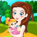 لعبة تلبيس الام و الطفل