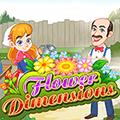 لعبة دمج مكعبات الزهور