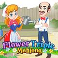 لعبة ماغونج الزهور الثلاثية