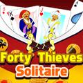 لعبة سوليتير الأربعون لصا